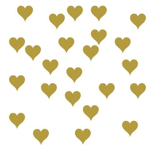 Roommates muursticker hartjes goud