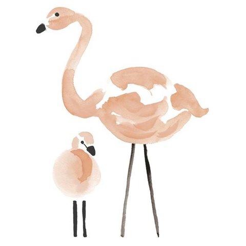 Lilipinso muursticker flamingo XL