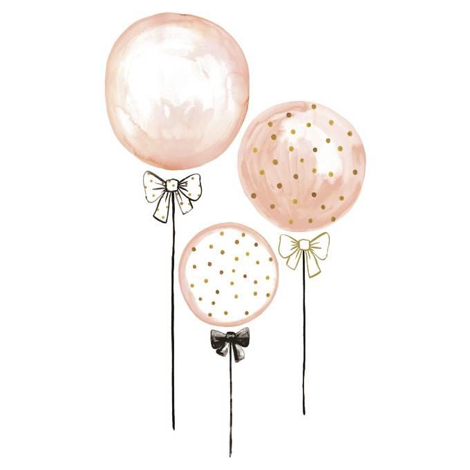 lilipinso muursticker kinderkamer ballonnen roze kidzsupplies. Black Bedroom Furniture Sets. Home Design Ideas