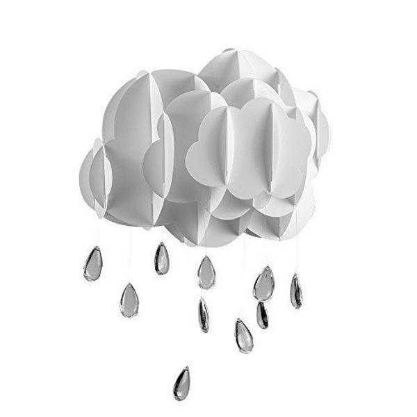 Kinderlamp wolk wit met regendruppels