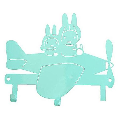 Kinderkapstok Nijntje vliegtuig mint groen