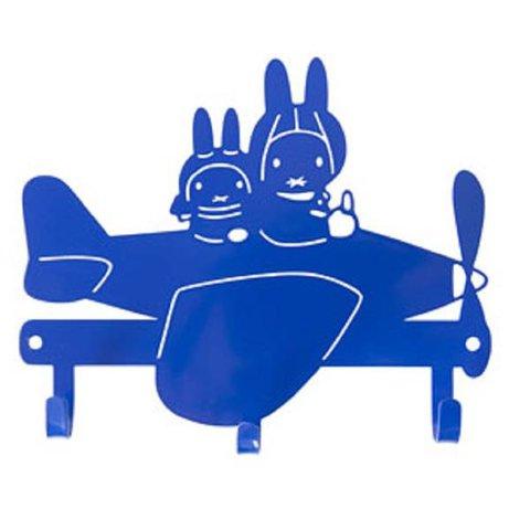 Kinderkapstokje Nijntje vliegtuig blauw