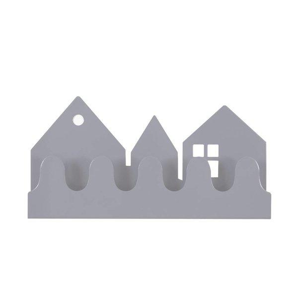 Roommate Roommate Denmark kinderkapstok huisjes village grijs