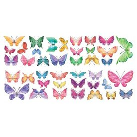 Decowall Decowall muursticker kinderkamer vlinders watercolour butterflies