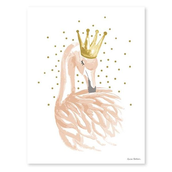 Lilipinso Lilipinso poster flamingo met kroon
