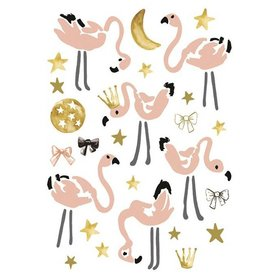 Lilipinso Lilipinso muursticker flamingo's