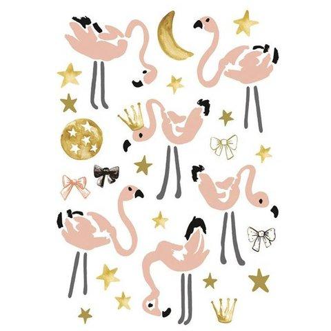 Lilipinso muursticker flamingo's