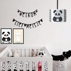 Kinderkamer accessoires in zwart/wit