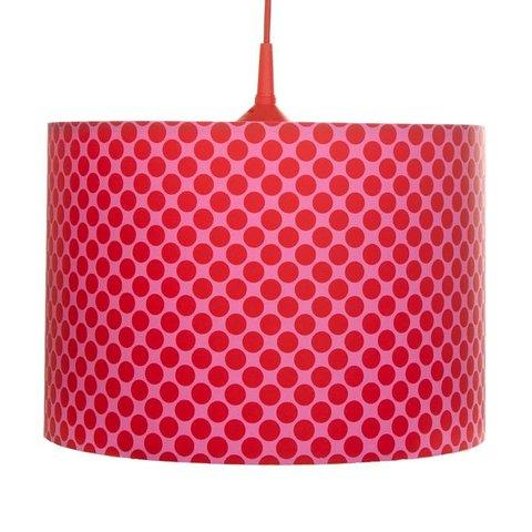 Kinderlamp Dots rood pink
