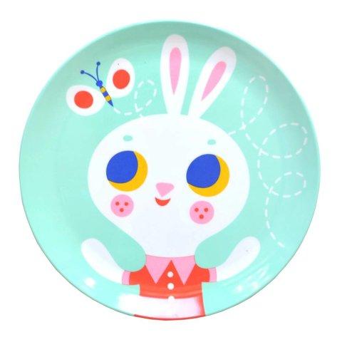 Petit Monkey melamine bord konijn mint