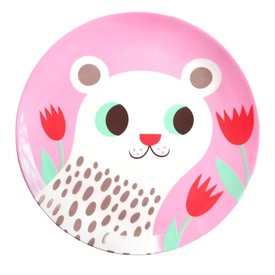 Petit Monkey Petit Monkey melamine bord polar beer roze