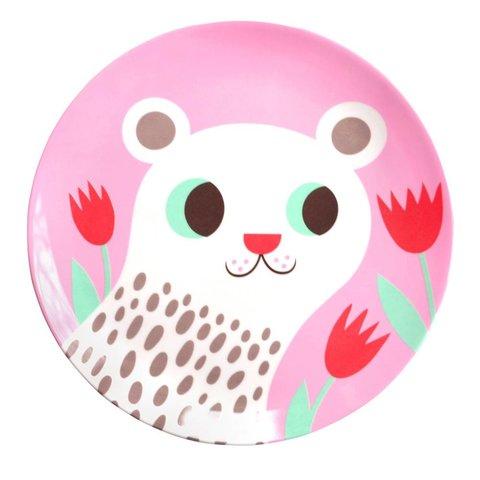 Petit Monkey melamine bord polar beer roze