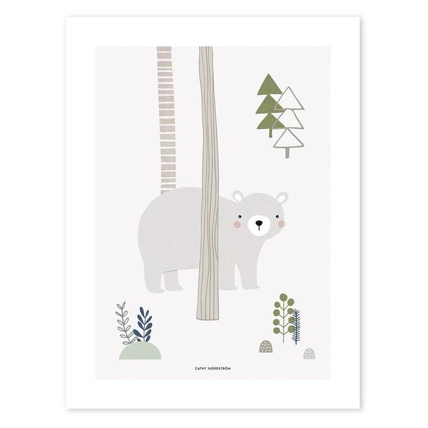 Lilipinso Lilipinso kinderposter woodland beer