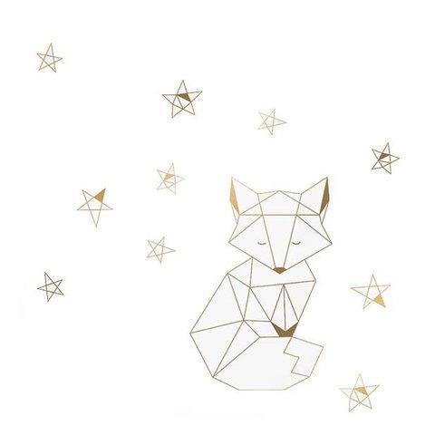 Nouvelles Images muursticker de kleine vos goud