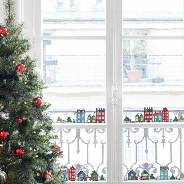 Nouvelles Images Nouvelles Images kerst raamstickers winterse huisjes