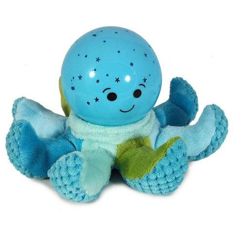 Cloud b nachtlampje octopus Softeez blauw