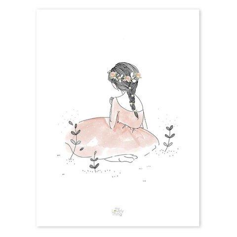 Lilipinso poster meisje au jardin