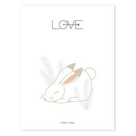 Lilipinso Lilipinso poster konijn LOVE