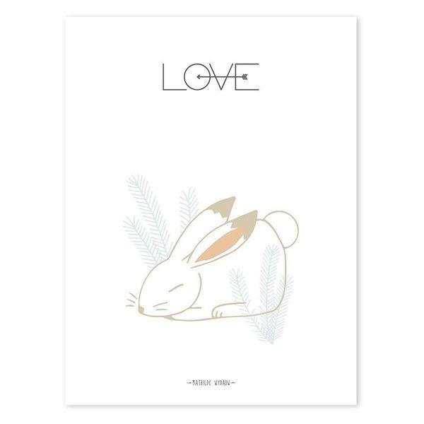 Lilipinso Lilipinso kinderposter konijn LOVE