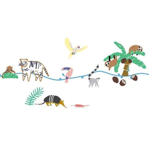 Mimilou muursticker jungle Wild