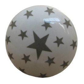 La Finesse La Finesse kastknopje wit met grijze sterren