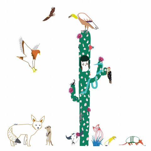 Mimilou muursticker cactus Into the Dessert