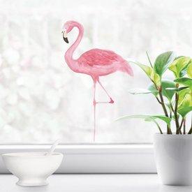 Nouvelles Images Nouvelles Images raamsticker flamingo