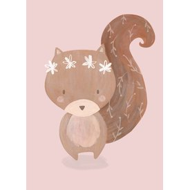 Petite Louise Petite Louise poster A4 eekhoorn