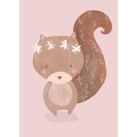 Petite Louise poster A4 eekhoorn