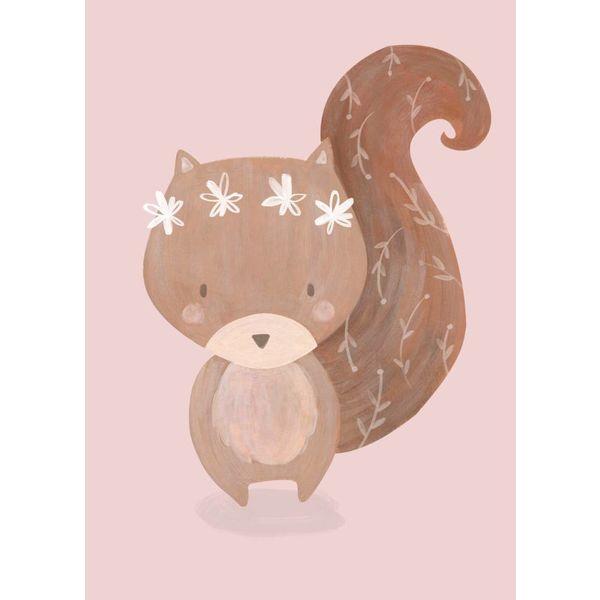 Petite Louise Petite Louise kinderposter A4 eekhoorn