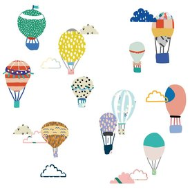 Mimi'lou Mimilou mini muurstickers luchtballonnen