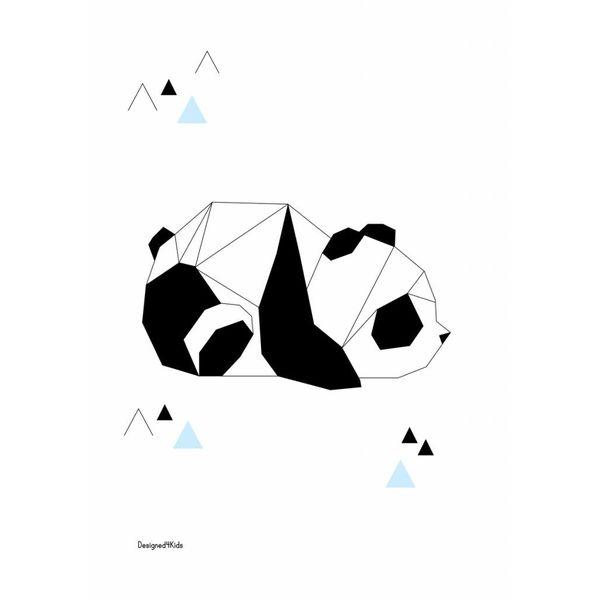 Designed4Kids Designed4Kids kinderposter A3 panda origami