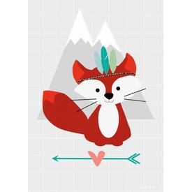 Designed4Kids Designed4Kids poster A3 vos Tribal Fox