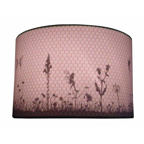 Juul Design kinderlamp silhouette elfjes oud roze