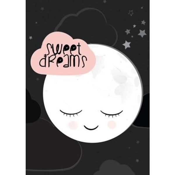 Land of Kids Poster kinderkamer A2 maan Sweet Dreams