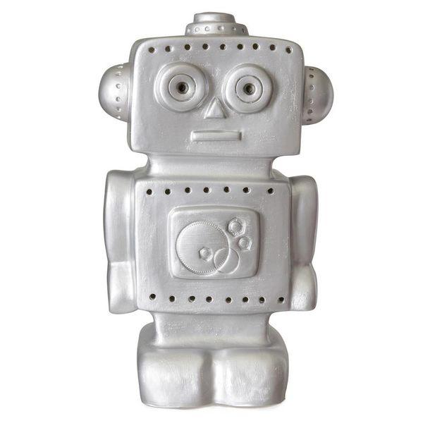 Heico figuurlampen Figuurlamp robot zilver