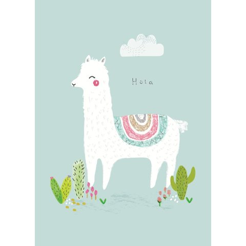 Petite Louise poster A4 alpaca Hola
