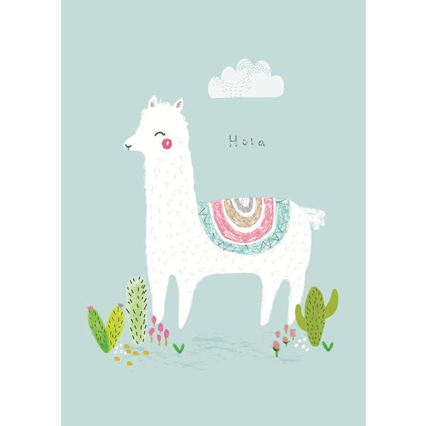Petite Louise Petite Louise kinderposter A4 alpaca Hola