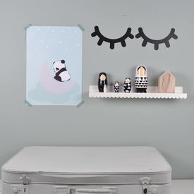 Eina Design Muursticker Sleepy Eyes zwart