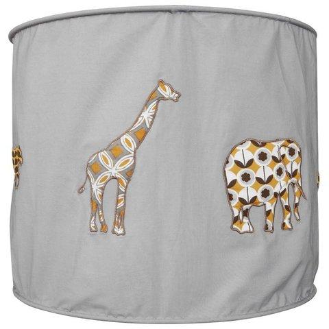 Taftan kinderlamp safari  grijs