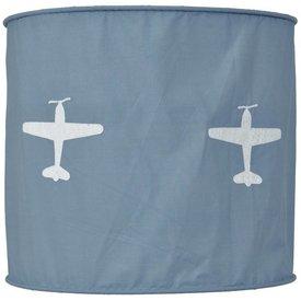 Taftan Taftan kinderlamp vliegtuig grijs blauw