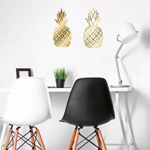 Nouvelles Images muursticker ananas goud