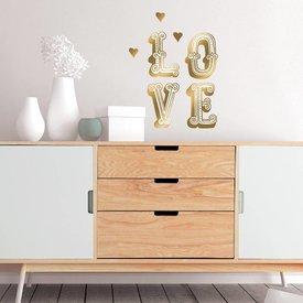 Nouvelles Images Nouvelles Images muursticker LOVE goud