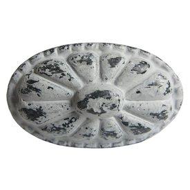 Harvey's Home Deurknop metaal ovaal antiek grijs