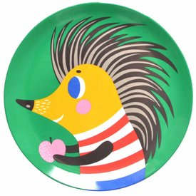 Petit Monkey Petit Monkey melamine bord egel groen