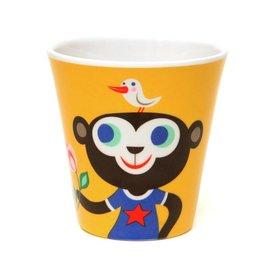 Petit Monkey Petit Monkey melamine beker aap en bullldog