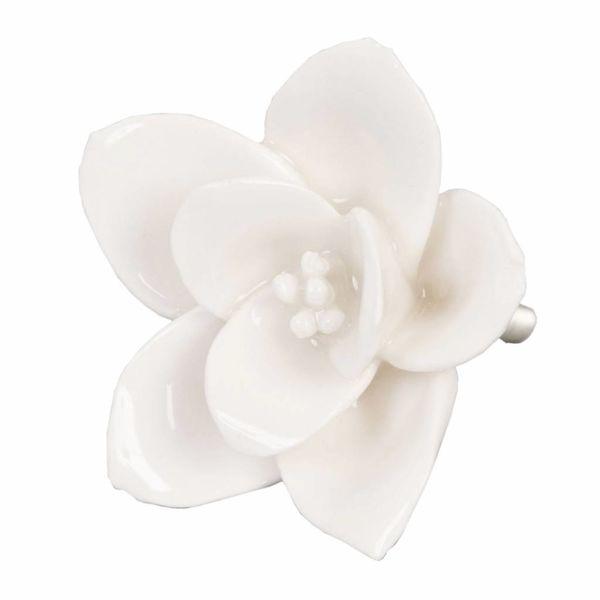 Clayre & Eef Deurknop porselein bloem creme