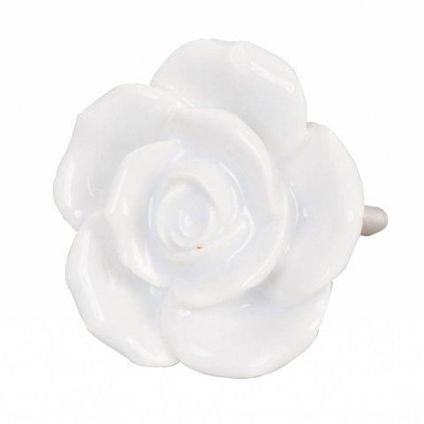Deurknopje bloem roos wit