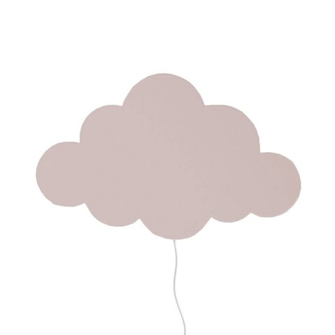 Ferm Living Kids wandlamp wolk roze Dusty Rose
