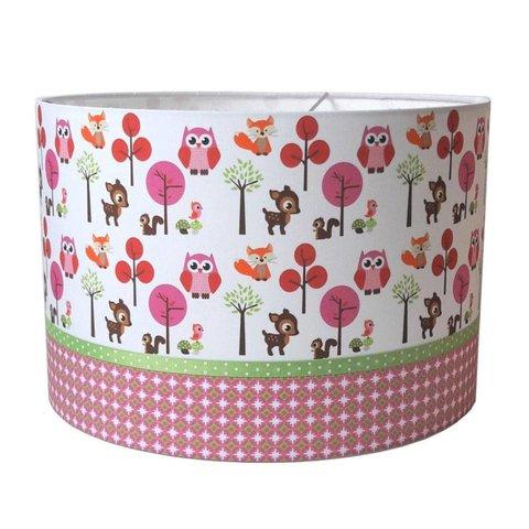 Designed4Kids kinderlamp bosdieren roze